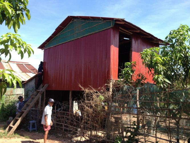 Cambodia-Rural-Homes-Built